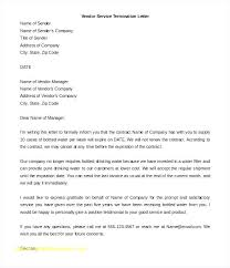 Service Termination Letter Business Contract Template Elegant Luxury ...