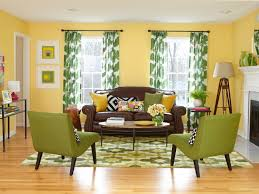 Living Room Yellow Wall With Inspiration Design