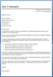 database administrator cover letter sample database administrator cover letter