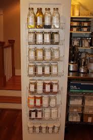 Kitchen Pantry Door Organizer Pantry Door Storage Rack Kitchen Home Design Ideas