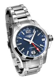 buy longines l3 687 4 99 6 conquest gmt mens watch £901 00 longines l3 687 4 99 6 conquest gmt mens watch