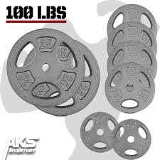Details about Weight Plate Set 100lb Cast Iron Standard 1\