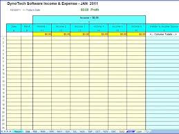 Monthly Finance Spreadsheet Spending Journal Template Business