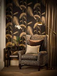 Cole And Son Behang Palm Leaves Black 662014