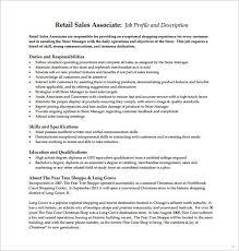 Job Description Flexible Photoshots Retail Sales Associate Template