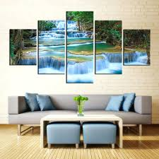 paintings for office walls. Paintings For Office Walls. Wall Painting Peaceful Waterfall Canvas Prints 5 Pieces Decor Poster Walls