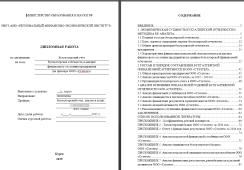 вкр Ратео Бухгалтерская отчетность в анализе финансового состояния предприятия