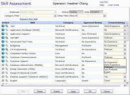 List Of Skills For Employment Skills Tracking Skill Database Talent Management