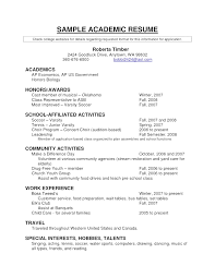 Cv English Example Academic Gallery Certificate Design And Template ...