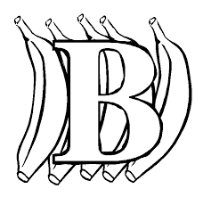 Small Picture Letter B Banana coloring page