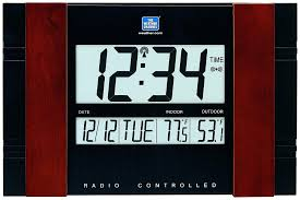 skyscan atomic clock with outdoor temperature atomic clock indoor outdoor temperature