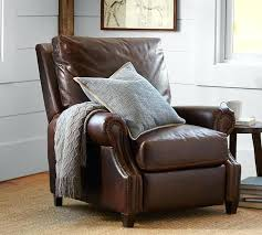 reclining leather chair black leather recliner chair with footstool