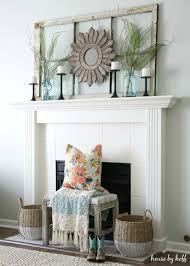 Decorate With Old Windows Ideas For Decorating With Old Windows Old Window Frame Mantel
