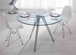 tonelli unity round glass dining table