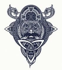 Vektorová Grafika Viking Válečník Tetování Severní Válečník Tričko