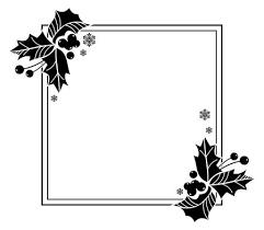 Vierkant Frame Met Kerstklokken En Hulst Bessen Silhouetten Ruimte