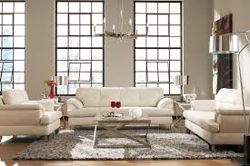 ter brilliant white euro design all leather sofa loveseat to enlarge