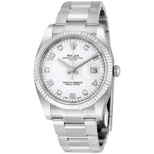 rolex oyster perpetual date 34 white dial stainless steel rolex rolex oyster perpetual date 34 white dial stainless steel rolex oyster automatic men s watch 115234wado