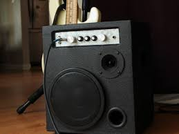 a portable practice amplifier for bass guitar designed to have a far more accurate frequency response than the typical commercial offerings