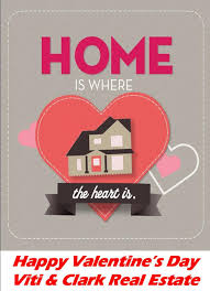 Valentines Card Home Sweet Home In 2019 Real Estate Postcards