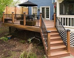 Trex Deck Post Cap Lighting Beautiful Deck Railing Ideas Photos Compilation Photo And