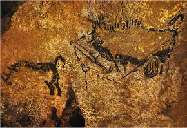 rhinoceros wounded man ed bison date c 16 14000 bce subject same as title location caves at lascaux france culture period paleol
