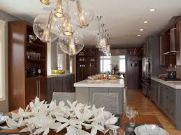 Glass Globe Pendant Lighting With Track Lighting And Wood Shelves Plus  Pendant Lighting For Mid Century Modern Kitchen Design Ideas
