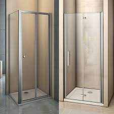 details about frame frameless bifold shower enclosure tray walk in glass door screen cubicle