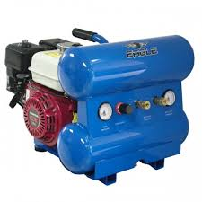 gas air compressor. eagle 5.5-hp 4-gallon twin stack contractor gas air compressor w/ honda engine