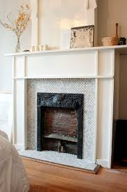 fireplace tile before and after