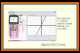 solving system of equations by graphing calculator tessshlo