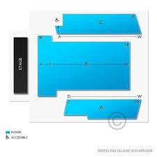 Wheeling Island Showroom Seating Chart Wheeling Island Showroom 2019 Seating Chart