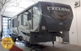 2016 heartland cyclone fifth wheel toy hauler pre owned rvs sylvan
