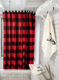 buffalo check shower curtain fabric curtains in black and white