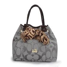 Coach North South Scarf Large Grey Totes ATQ