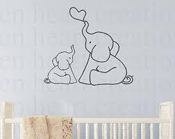 baby elephant wall art for nursery