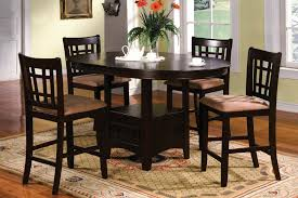 furniture glamorous counter height dining table round bar height intended for bar height dining room table sets decor