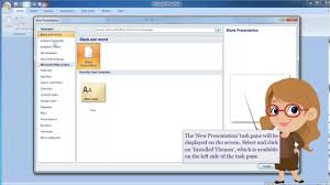 Design For Powerpoint 2007 Ms Powerpoint 2007 Creating A Presentation Using Design Template