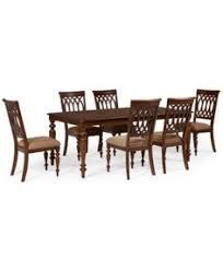 crestwood 7 piece dining room furniture set dining table and 6 side chairs