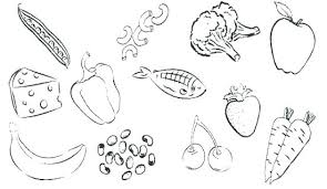 Healthy Foods Coloring Pages Healthy Food Coloring Page Junk Food
