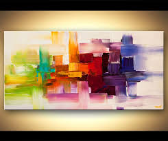 original abstract art paintings by osnat colorful modern abstract art textured painting