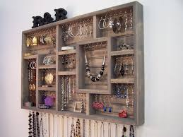 Wall Jewelry Organizer Bedroom Interesting Back Door Storage Design With White Wire Over