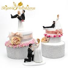 2019 Bride Groom Cake Topper Event Party Supplies Resin Figure