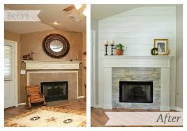 fireplace makeover reveal little red brick house