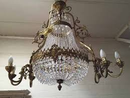 vintage french basket chandelier french empire crystal chandelier
