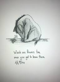 How did you fall in, eeyore? asked rabbit, as he dried him with piglet's the old grey donkey, eeyore stood by himself in a thistly corner of the forest, his front feet well apart, his head on one side, and thought about things. Miss You Eeyore Quotes Quotesgram