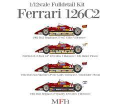Make and model make and year year category importance/role date added (new ones first) movie title. Ferrari 126c2 Fulldetail Kit Model Factory Hiro Car Model Kit Com