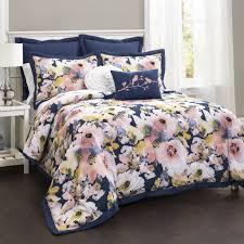 watercolor comforter set. Brilliant Set Floral Watercolor Comforter 7 Piece Set With