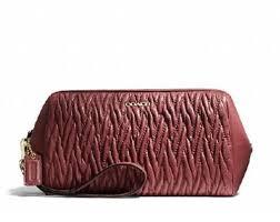 Coach Madison Twist Gathered Leather Large Wristlet Purse Clutch 50472   Handbags  Amazon.com