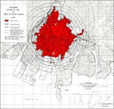 did the atomic bombs in hiroshima and nagasaki affect child growth hiroshima blast and fire damage u s strategic bombing survey map from wikicommons